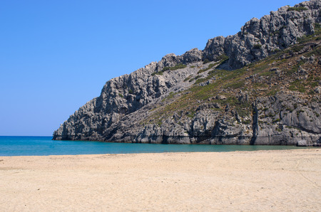 Gorgona beach on Rhodes island - Greece