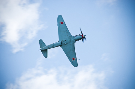 Old russian fighter from world war 2 time Editorial