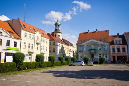 wielkopolskie: Town square of Rawicz - Poland