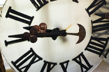 dismounted: Dismounted face of old big clock