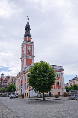 wielkopolskie: Town hall and square in Leszno - Poland Stock Photo