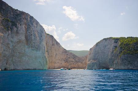 Shipwreck beach on Zakynthos island - Greece Stock Photo
