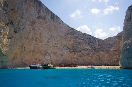 Shipwreck beach on Zakynthos island - Greece Editorial