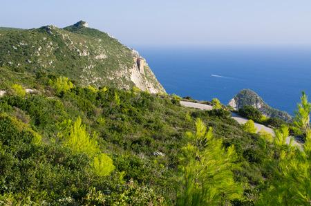 ionian: Cliffs of Zakynthos island - Agalas, Greece Stock Photo