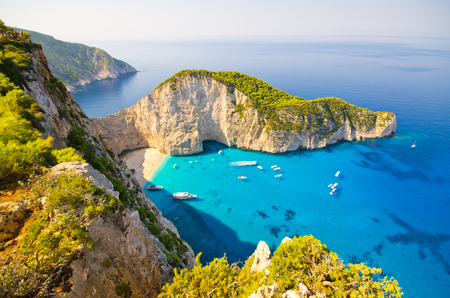 Navagio beach on Zakynthos island - Greece