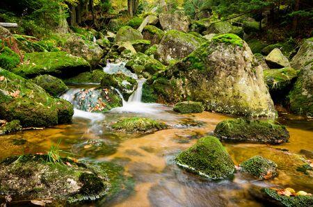 Beautiful stream in Jizera mountains, Czech Republic Stock Photo