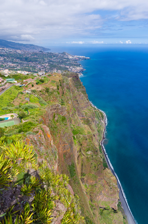 View from Cabo Girao cliff - Madeira island, Portugal Stock Photo