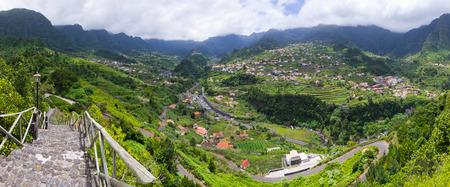 Green landscape near Sao Vicente, Madeira, Portugal