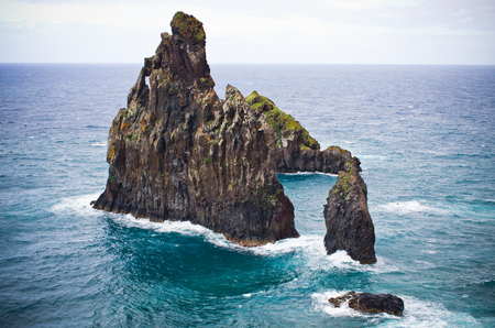 Dramatic rocks on coast of Madeira - Portugal