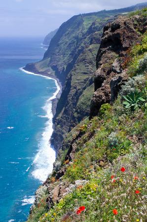 Coast of Madeira island near Ponta do Pargo, Portugal Zdjęcie Seryjne