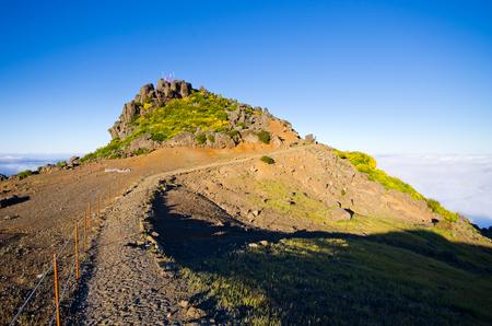 Pico Ruivo peak on Madeira island - Portugal Stock Photo