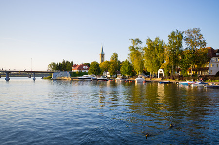 Mikolajki - capital of Masurian region in Poland