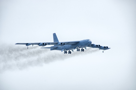 Radom, Poland - August 26, 2017: B-52 on Airshow Radom. One of most famous aviation events in central Europe.