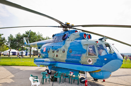 Radom, Poland - August 26, 2017: Mi-14 Helicopter on Airshow Radom. One of most famous aviation events in central Europe. Editöryel
