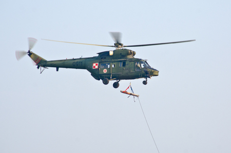 Radom, Poland - August 26, 2017: Airshow Radom. One of most famous aviation events in central Europe. Editöryel