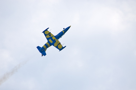 Radom, Poland - August 26, 2017: Baltic Bees formation on Airshow Radom. One of most famous aviation events in central Europe.