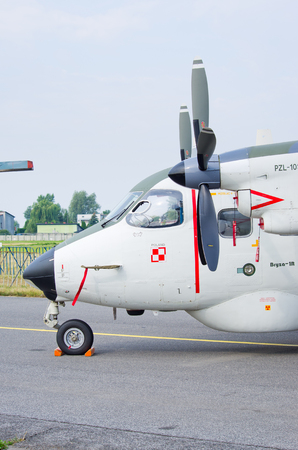 Radom, Poland - August 26, 2017: PZL M28 Bryza on Airshow Radom. One of most famous aviation events in central Europe.