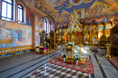 Suprasl, Poland - August 26, 2017: interior of orthodox church. The Suprasl Orthodox Monastery  founded in the 16th located North Eastern Poland in the Podlaskie Voivodeship. Editöryel