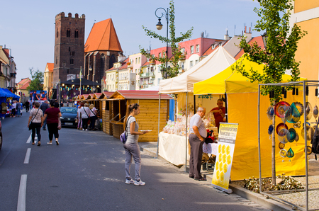 Sroda Slaska, Poland - August 09, 2017: Wine Festival. One of most famous festivals in Lower Silesia district in Poland.