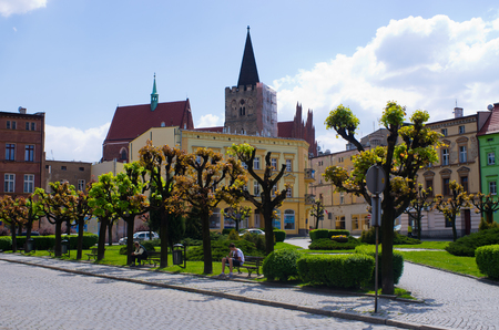 Ziebice, Poland - May 07, 2016: old town.  It is the seat of the administrative district called Gmina Zi?bice. Prior to 1945 it was located in Germany