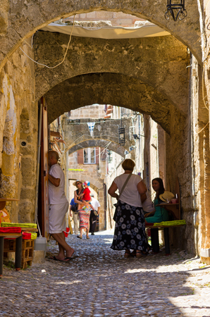 Rhodes, Greece - July 17, 2016: the town. Principal city on the island of Rhodes in the Dodecanese Editöryel