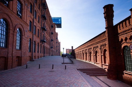 Lodz, Poland - Month August, 2018: Manufaktura. The complex is arts centre, shopping mall, and leisure place.