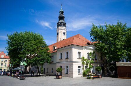 Town hall of Zielona Gora, Poland Zdjęcie Seryjne - 127580887