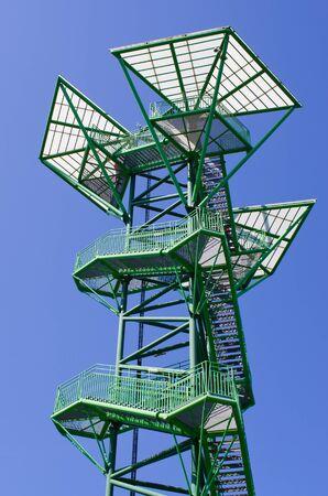 Watch tower in Kotowice near Wroclaw, Poland Zdjęcie Seryjne - 127580894