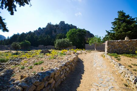 Ruins of Palio Pyli castle on Kos island - Greece