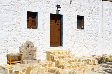 Agios Ioannis Thymianos church - Kos island, Greece Zdjęcie Seryjne - 128741192