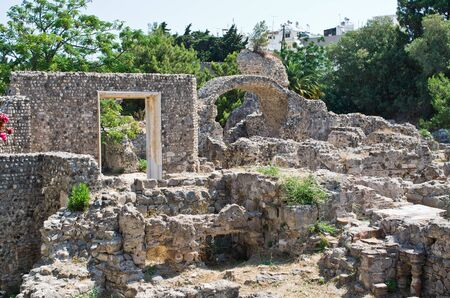 Ancient ruins in Kos town - Greece