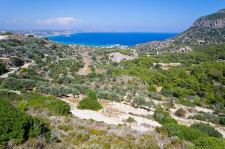 Landscape of Kos island, Greece