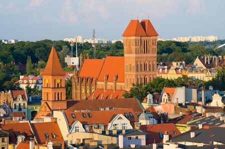 Cityscape of Torun, medieval town in Poland