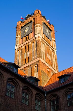Tower of town hall in Torun - Poland