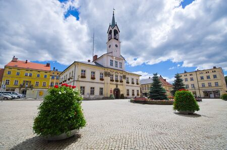 Town square of Lubawka - Lower Silesia, Poland
