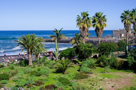 Puerto de la cruz - Tenerife, Spain Zdjęcie Seryjne - 131507988