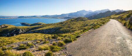 Road, sea and mountains - Mallorca, Spain Reklamní fotografie