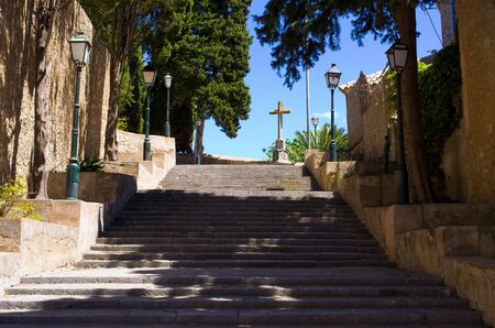 Fortified church in Arta, Mallorca - Spain
