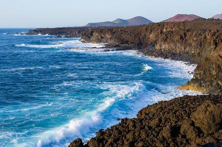 Los Hervideros bay on Lanzarote - Spain