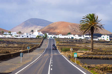 Lnazarote - village and 2 calderas - Spain Stok Fotoğraf