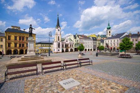 Town square of Trutnov - Czech Republic Stok Fotoğraf