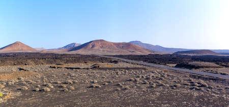 Volcanic landscape of Lanzarote Island, Spain Stock fotó