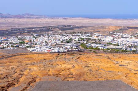 Cityscape of Teguise - Lanzarote, Spain Stok Fotoğraf