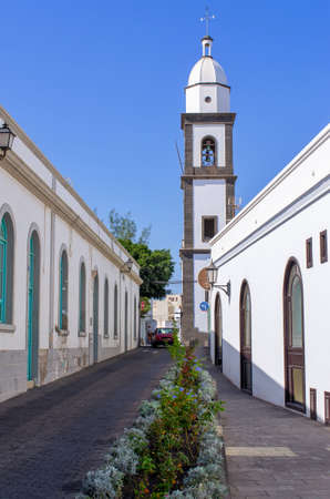 Famous church of Arrecife - Lanzarote, Spain Stok Fotoğraf