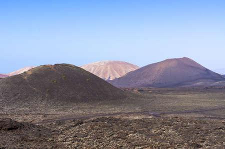 Volcanic landscape of Lanzarote Island, Spain Stok Fotoğraf