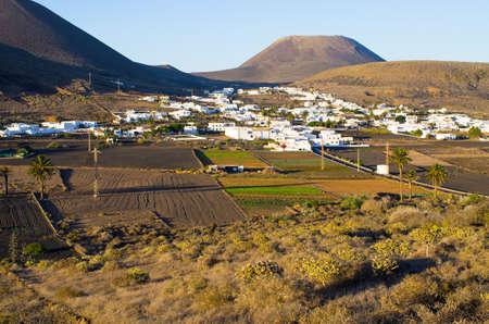 Famous Haria village on Lanzarote Island - Spain Stok Fotoğraf - 154053279