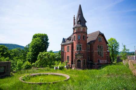 Old building in Gluszyca - Poland Stok Fotoğraf - 155410890