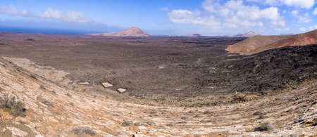 Volcanic landscape of Lanzarote Island - Spain