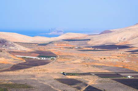 Landscape of Lanzarote Island - Spain Stok Fotoğraf