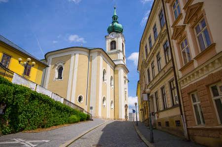 Main church of Trutnov - Czech Republic Stok Fotoğraf
